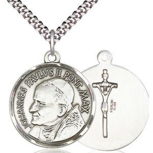 Sterling Silver St John Paul II Pendant
